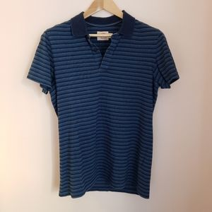 Brooks Brothers Red Fleece Striped Polo Shirt Blue